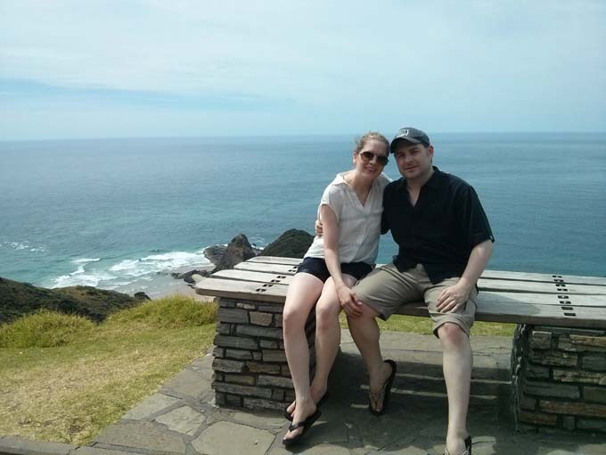 The couple at the northern tip of New Zealand.