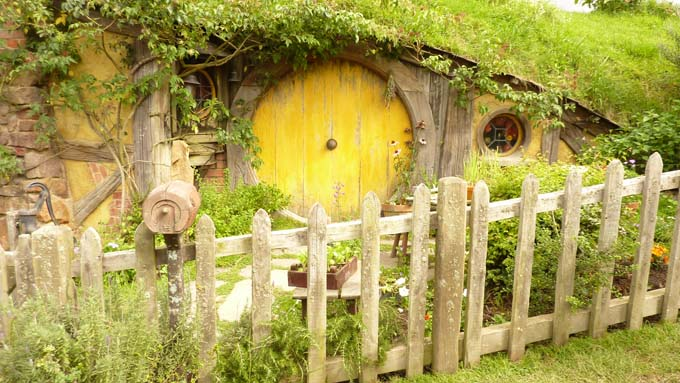 An older Sam's house at the end of the Lord of the Rings series.