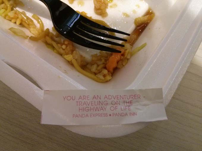 The fortune cookie Jill had with lunch today...no joke!