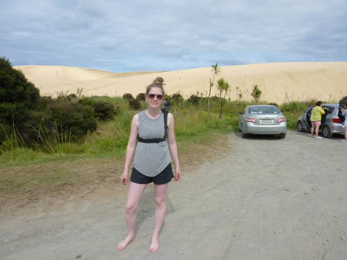 Just parked the car and a darn sand dune got in our faces!