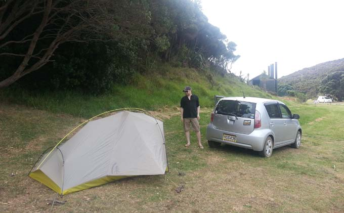 First night tenting in New Zealand.