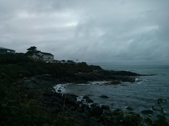 The Bluff Hill coastline.
