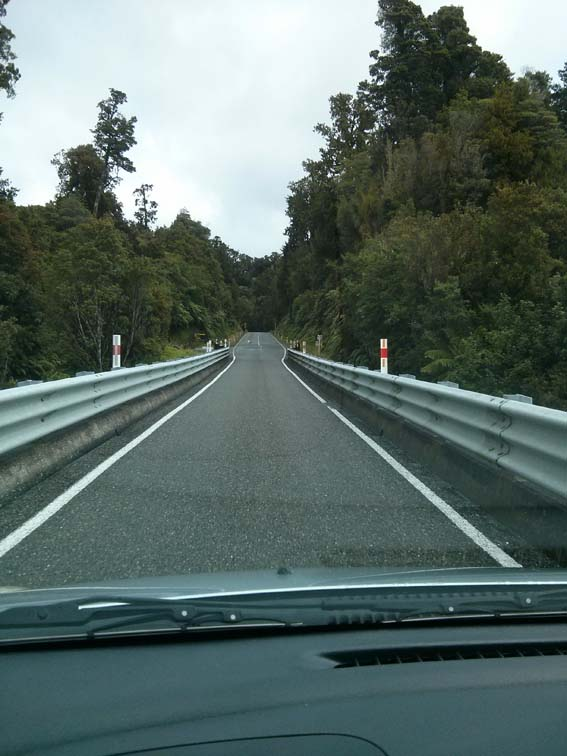 New Zealand view down a highway bridge...yup.