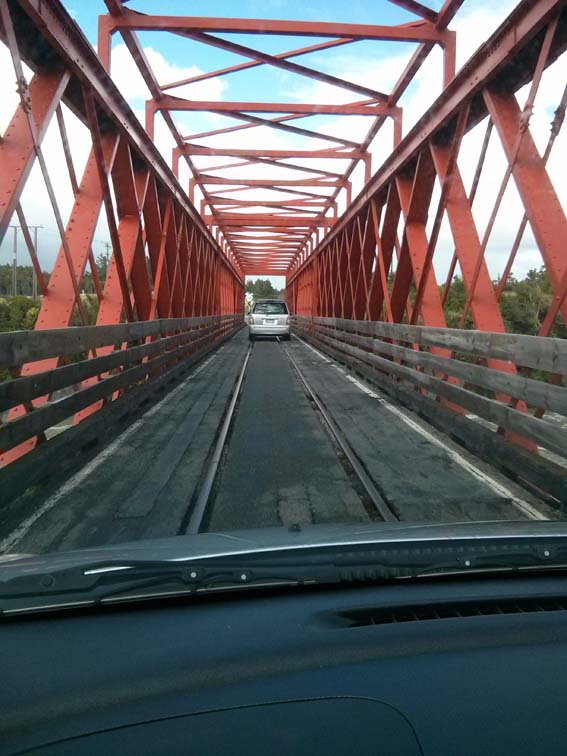 New Zealand view down a highway bridge...yup.