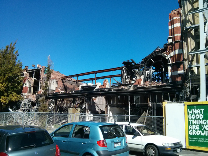Christchurch 2011 earthquake damage.