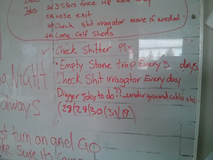 Allan Francis and Guy Jamieson like to whiteboard their daily tasks...how do your daily jobs compare to this list?