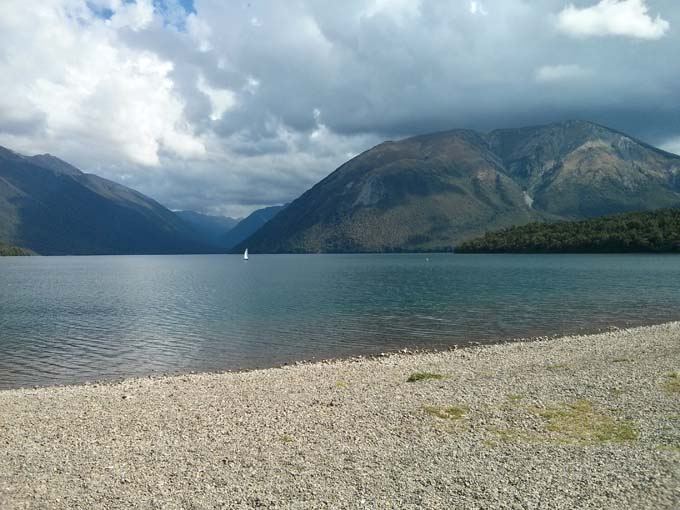 Lake Rotoiti from the Kerr Bay Department of Conservation campsite