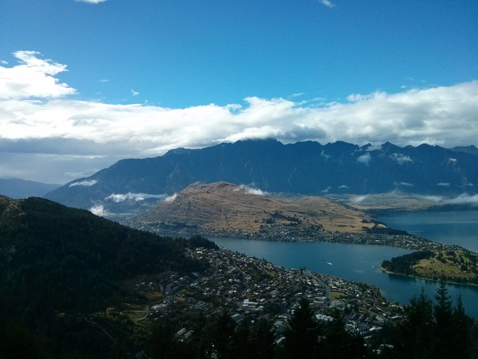 Queenstown city view from top of Gondola