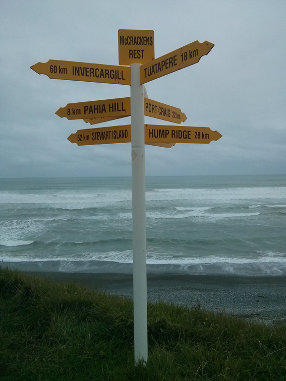 McCrackins Rest sign post to mimic Bluff and Cape Reigna.