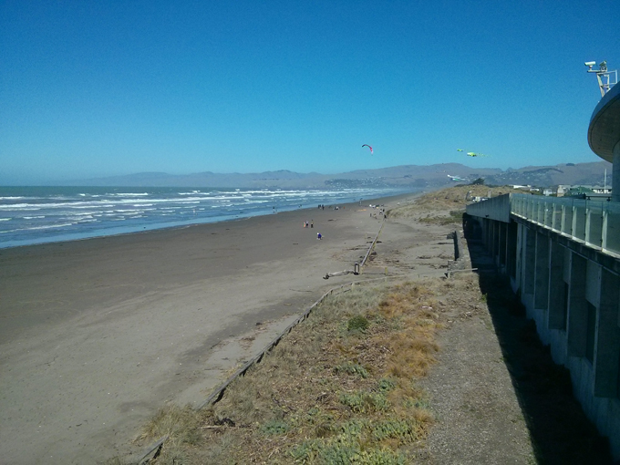 New Brighton district of Christchurch. The Pacific ocean.