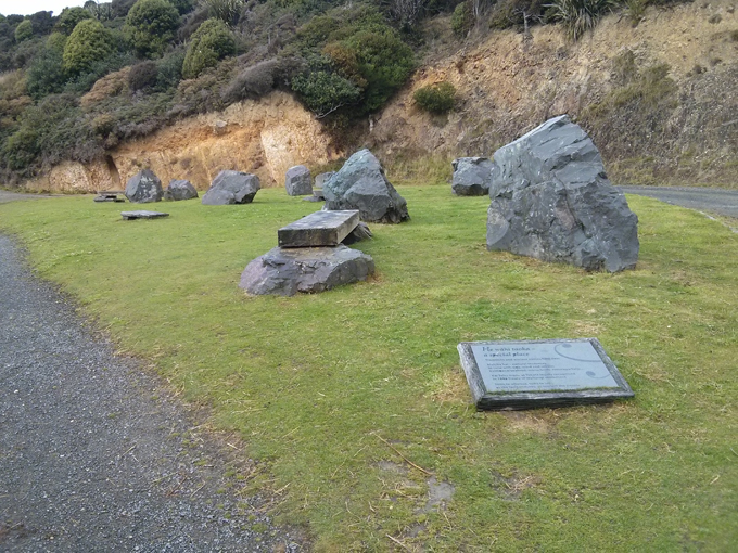 Nugget Point welcome stones