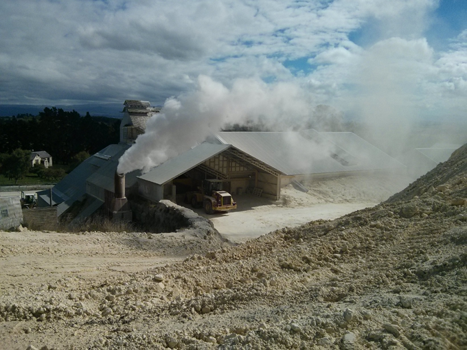 Parkside lime is their other operation, using the left over limestone they combine it with sulphur to make various types of fertilizers and other products for dairy farmers.