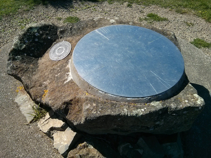 From the Waimate hill view, the rotary club had installed this directional plate for key places.