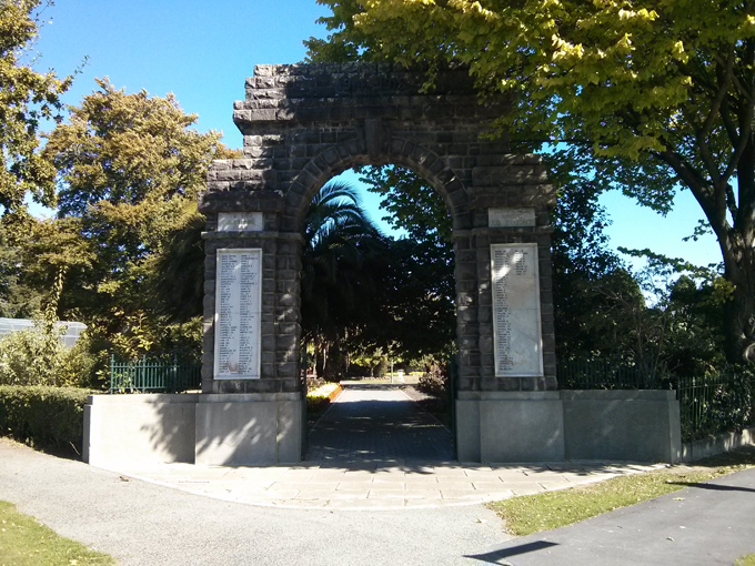The Waimate Park and Bird Sanctuary entrance.