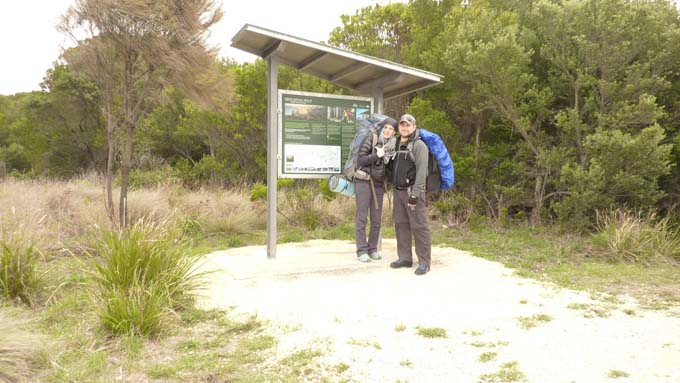 The start of the Great Ocean Walk.
