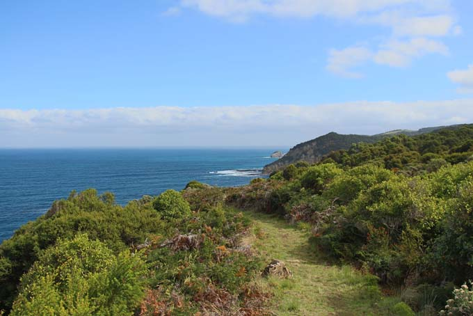 Devil's Kitchen hike path coastline view