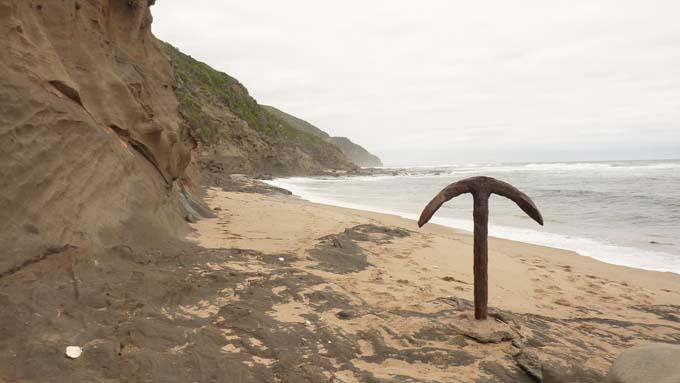 Shipwreck anchor on Wreck Beach