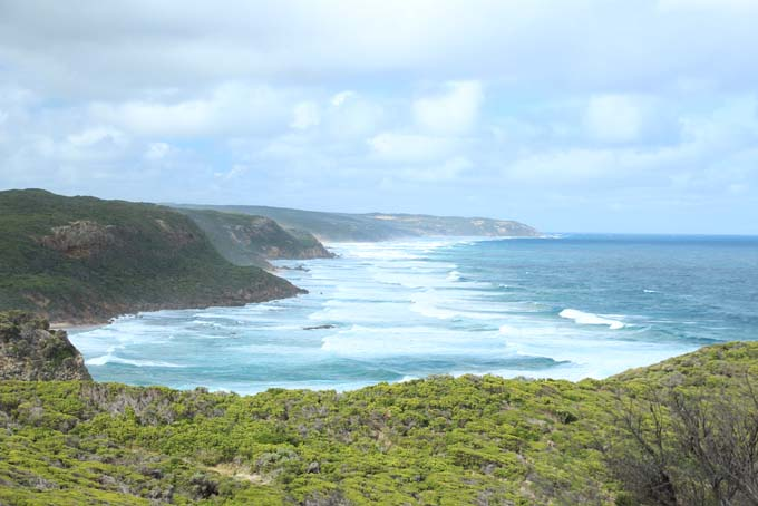 Johanna Beach hike path coastline