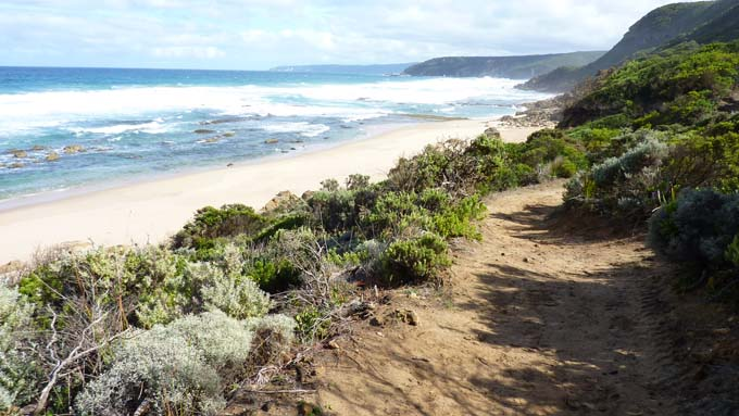 Johanna Beach hike path coastline view