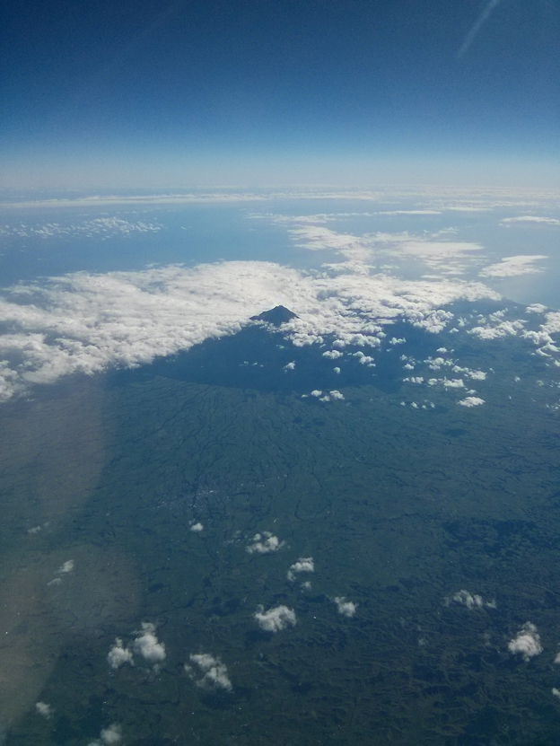 New Plymouth Mountain from above the clouds
