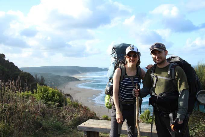 Ryan's Den hike path selfie