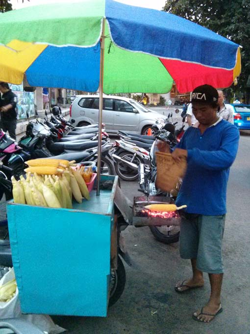 Bali-Beach Corn Vendor