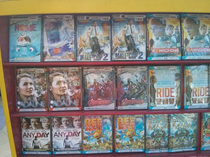 Bootleg DVDs of new movies now in theaters (Avengers 2 and Age of Adelaide for example)