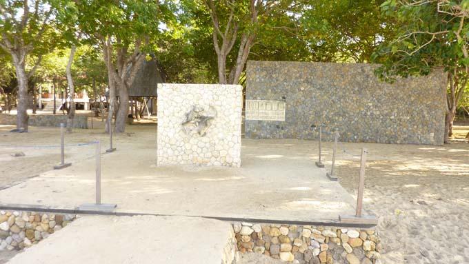 The welcoming sign at Komodo Island.