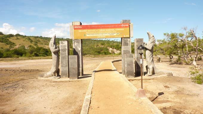 Rinca Island welcome gate.